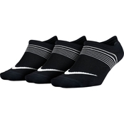 Nike Women's Performance Lightweight Training Footies, 3 Pk.
