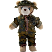 Bear Forces of America Marine Corps Male Woodland Marpat Plush Bear 11 in.