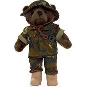 Bear Forces of America Marine Corps Female Woodland Desert Plush Bear 11 in.