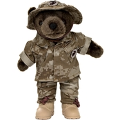 Bear Forces of America Marine Corps Male Woodland Desert Plush Bear 11 in.