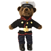 Bear Forces of America Marine Corps Dress Blue Uniform Plush Bear 11 in.