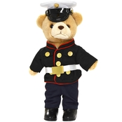 Bear Forces of America Marine Corps Dress Blue Uniform Plush Bear 10 in.