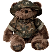 Bear Forces of America Marine Corps Woodland Marpat Uniform Plush Bear 16 in.