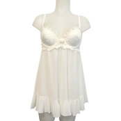 Cinema Etoile Sequin and Lace Molded Cup Babydoll