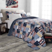 Lavish Home Patriotic American Quilt Set