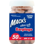 Macks Soft Foam Earplugs Value Pack 50 Pk.