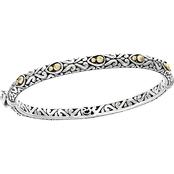 Effy Sterling Silver and 18K Yellow Gold Bangle