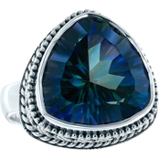 Robert Manse Designs Concave Cut Blue Quartz Trillion Ring
