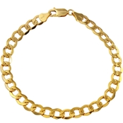 10K Yellow Gold 7mm Curb Link Bracelet