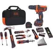 Black & Decker 12V MAX* Cordless Lithium Drill/Driver Project Kit