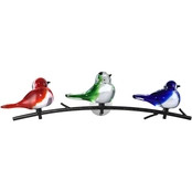 Dale Tiffany Art Glass Birds of Oahu Wall Decor