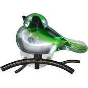 Dale Tiffany Green Art Glass Bird Wall Decor