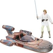 Star Wars The Black Series Luke Skywalker's X-34 Landspeeder and Figure