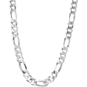 Sterling Silver 22 in. Figaro Chain Necklace