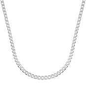 Sterling Silver 24 in. Super Flat 5.5mm Curb Chain Necklace