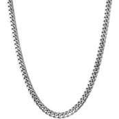 Sterling Silver 30 in. Cuban Link Chain Necklace