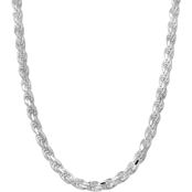Sterling Silver 22 in. Rope Chain Necklace