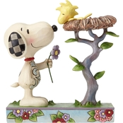 Jim Shore Peanuts Snoopy with Woodstock