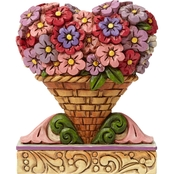 Jim Shore Heartwood Creek Fig Flower Heart Bouquet