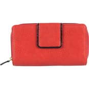 Dezine News Accessories Pebble Patent Tab Zip	Wallet