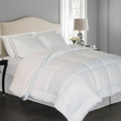 Kathy Ireland Home Essentials Multi Pinstripe Down Alternative Comforter