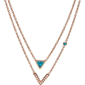 Fossil Turquoise Double Strand Convertible Necklace