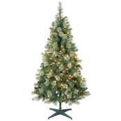 Puleo 6 Ft. Pre-Lit Cashmere Christmas Tree