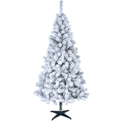 Puleo 6 Ft. Non-Lit Flocked Cashmere Christmas Tree