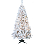 Puleo 6 Ft. Flocked Cashmere Mixed Tree with 200 Clear Lights