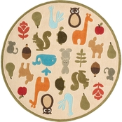 Momeni Lil Mo Whimsy Critters 5 Ft. Round Rug