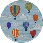Momeni Lil Mo Whimsy Hot Air Balloons 5 Ft. Round Rug