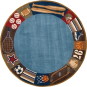 Momeni Lil Mo Whimsy All Star 5 Ft. Round Rug