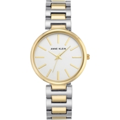 Anne Klein Women's Two Tone Bracelet Watch AK/2787SVTT