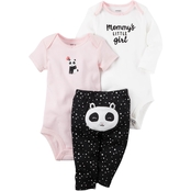 Carter's Infant Girls Little Character Panda 3 Pc. Set
