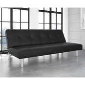 DHP Nola Tufted Black Futon