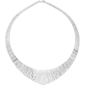 Sterling Silver 27x4mm Graduated Cleopatra Necklace 17 in.