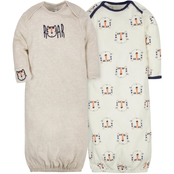 Gerber Infant Boys Gown (0 to 6 Months) 2 pk.