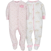 Gerber Infant Girls Sleep N' Play 2 pk., Size 3-6 Months