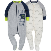 Gerber Infant Boys Sleep N' Play Footed Sleepers 2 pk., Size 0 to 3 Months