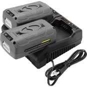 Snow Joe and Sun Joe 40V Dual Battery Charger