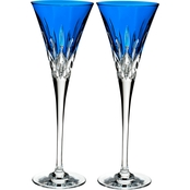 Waterford Lismore Pops Crystal Toasting Flute 2 pk.