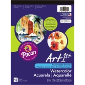 Pacon Artist Watercolor Paper Pad, 9x12, White, 12 Sheets