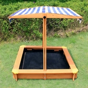 Turtleplay Sandbox with Canopy