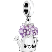 Chamilia Sterling Silver Watering Can Love You Mom Charm