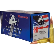 Hornady American Gunner .308 WIn 155 Gr. Boat Tail Hollow Point, 50 Rounds