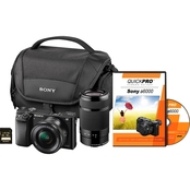 Sony a6000 24.3MP Interchangeable Lens Camera with Two Lens Bundle