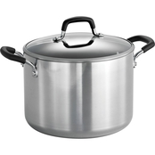 Tramontina Style Polished 8 Qt. Covered Stock Pot