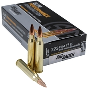Sig Sauer Elite Performance Match .223 Rem 77 Gr. Open Tip Match, 20 Rounds