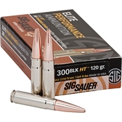 Sig Sauer Elite Hunting .300 BLK 120 Gr. Lead Free Copper Open Tip Match, 20 Rd.