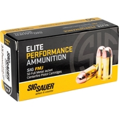 Sig Sauer Elite Performance Ball .357 Mag 125 Gr. FMJ, 50 Rounds